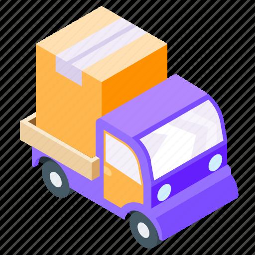 delivery, isometric, truck, van icon