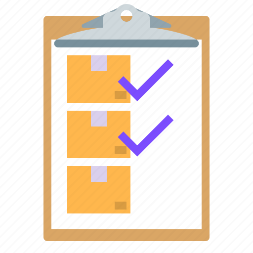 checking, clipboard, delivery, list icon