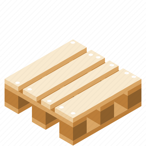 cardboard, delivery, packaging, pallet icon