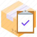 checking, clipboard, delivery, tasks icon
