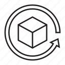 arrow, delivery, loading, package, process, shipment, shipping icon