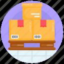 pallet, cargo, shipment, parcels, packages