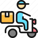 delivery, person, motorcycle