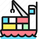 shipment, cargo, boat