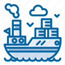 cargo, cargo ship, cargo vessel, delivery, sea, ship, shipping icon