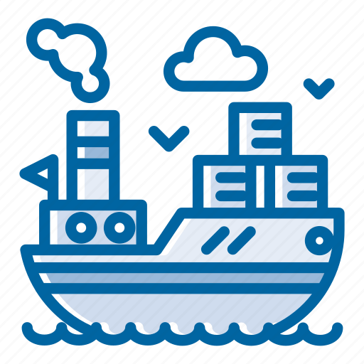 cargo, cargo ship, cargo vessel, delivery, sea, ship, shipping icon
