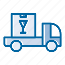 cargo, delivery van, post, service, shipping, transport, vehicle icon