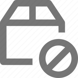 block, box, stop icon
