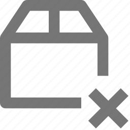 box, close, delete, delivery, gift, logistics, package, shipping icon