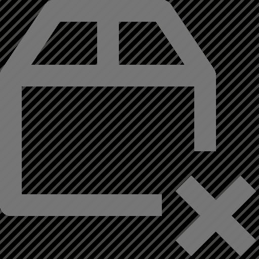 box, close, delete icon