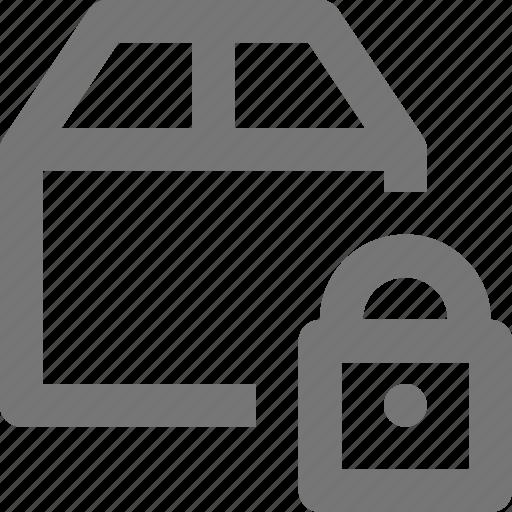 box, lock, security icon