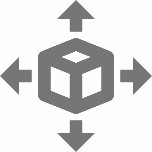 all direction, arrow, box, delivery, gift, logistics, package, shipping icon