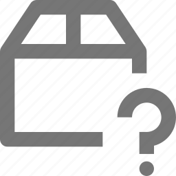 box, delivery, gift, help, logistics, package, question, shipping icon