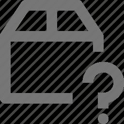 box, help, question icon