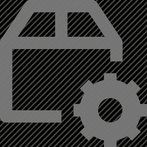 box, configuration, gear, settings icon