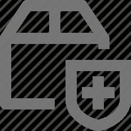 box, security, shield icon