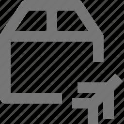 air, airplane, box, plane, shipping icon