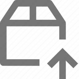 arrow, box, delivery, gift, logistics, package, up, upload icon
