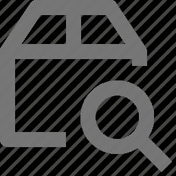 box, magnify, search, view icon