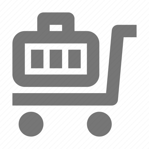 bag, delivery, gift, logistics, luggage, package, shipping, trolley icon