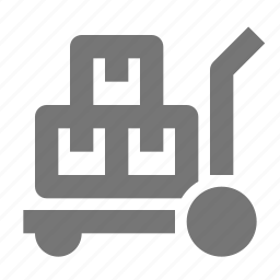 box, boxes, trolley icon