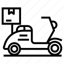 bike delivery, cargo, logistic delivery, scooter delivery, shipment icon