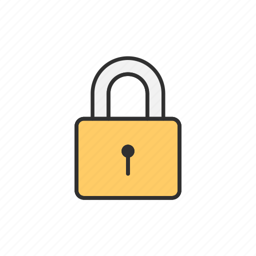 lock, padlock, private, safety icon
