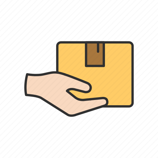delivery, delivery boxes, on hand, shipping icon