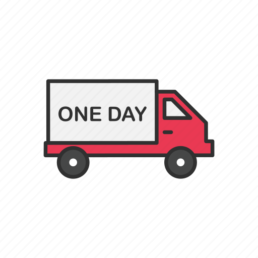 delivery, delivery truck, one day shipping, shipping icon