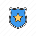 badge, safety, security, security badge icon