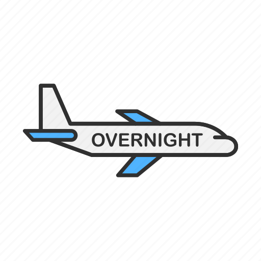 airplane, delivery, overnight shipping, shipping icon