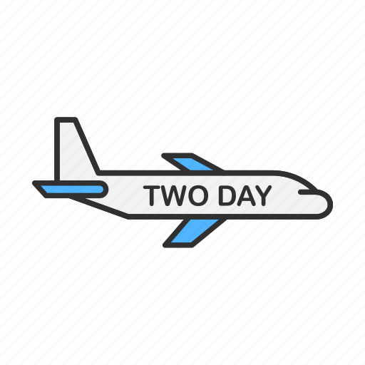 airplane, delivery, shipping, two day shipping icon