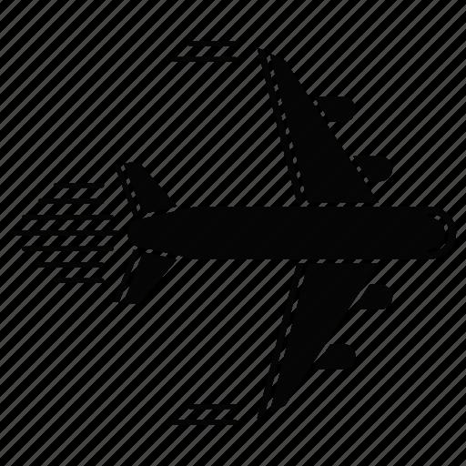 logistics, plane, shipping services, transportation icon
