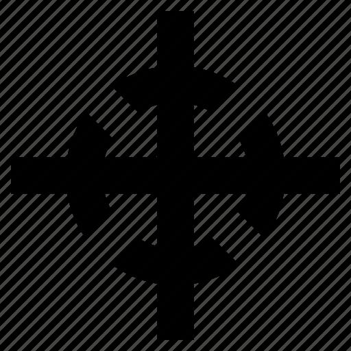center, centre, delivery, fullfillment, gravity, mark, of, shipping icon