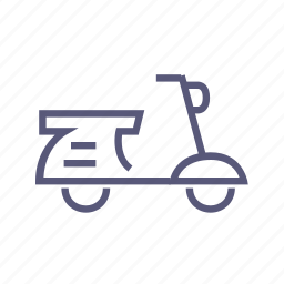 courier, food delivery, moped, motorbike, scooter, shipping, transport icon
