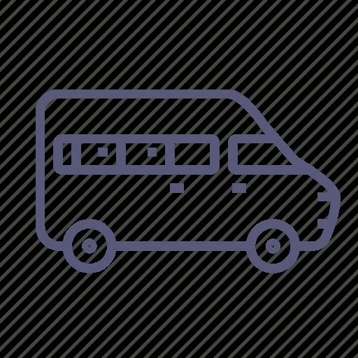 bus, car, minibus, minivan, shipping, transport, van icon