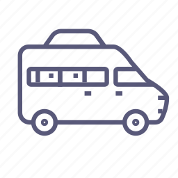bus, minibus, minivan, motorhome, shipping, transport, van icon