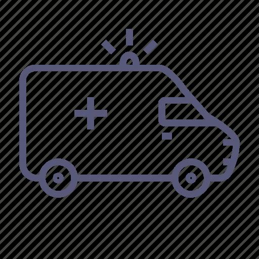 ambulance, car, important, shipping, transport, van icon