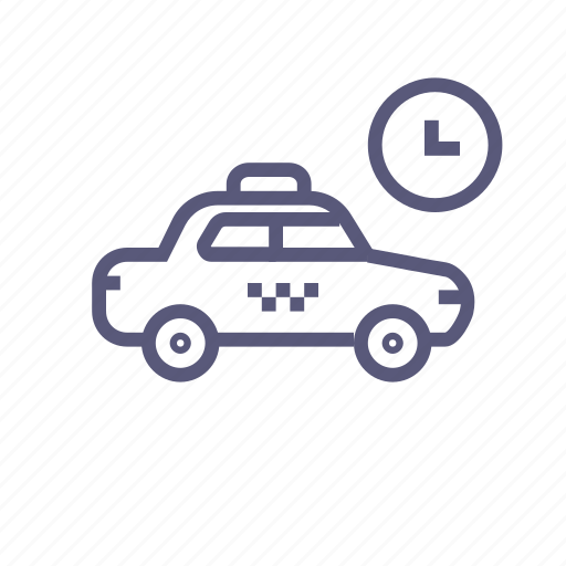 cab, car, shipping, taxi, transport, waiting icon