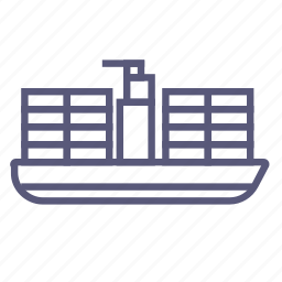 cargo container, delivery, river shipping, ship, shipping, transport icon