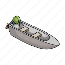 boat motor, ship, transport, vehicle, water icon