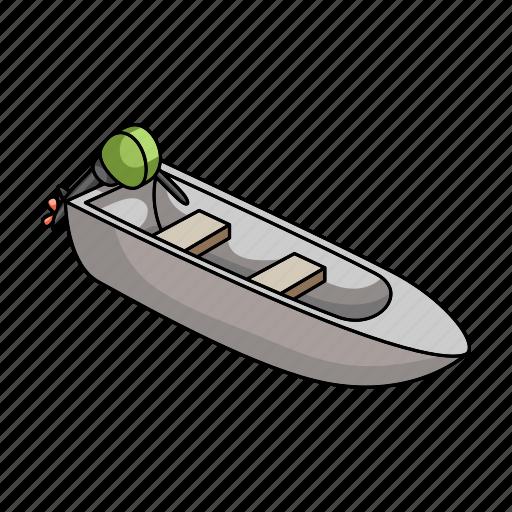 boat motor, ship, transport, vehicle, water icon