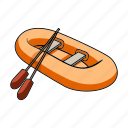 inflatable boat, ship, transport, vehicle, water icon