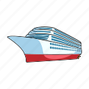cruise, liner, ship, transport, vehicle, water icon