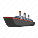 cruise liner, ship, transport, vehicle, water icon