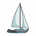 sailboat, sailing ship, ship, transport, vehicle, water icon