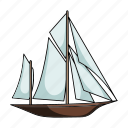 sailing ship, ship, transport, vehicle, water icon