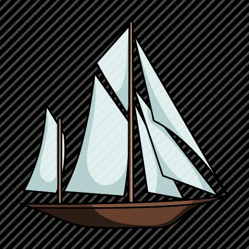 sailing ship, ship, transport, vehicle, water icon