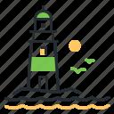 beacon, light, lighthouse, navigation icon