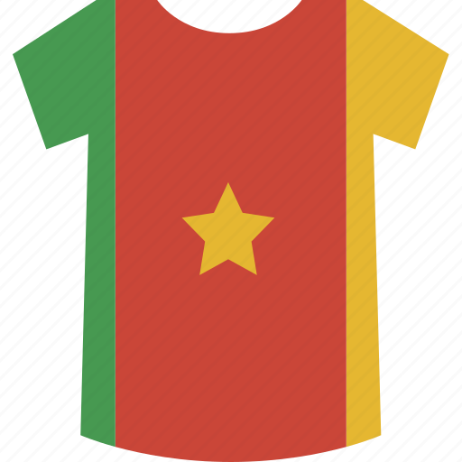 cameroon, shirt icon